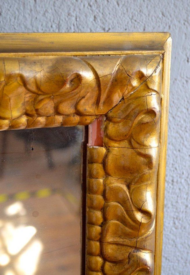 antiker spiegel mit goldrahmen bei pamono kaufen. Black Bedroom Furniture Sets. Home Design Ideas