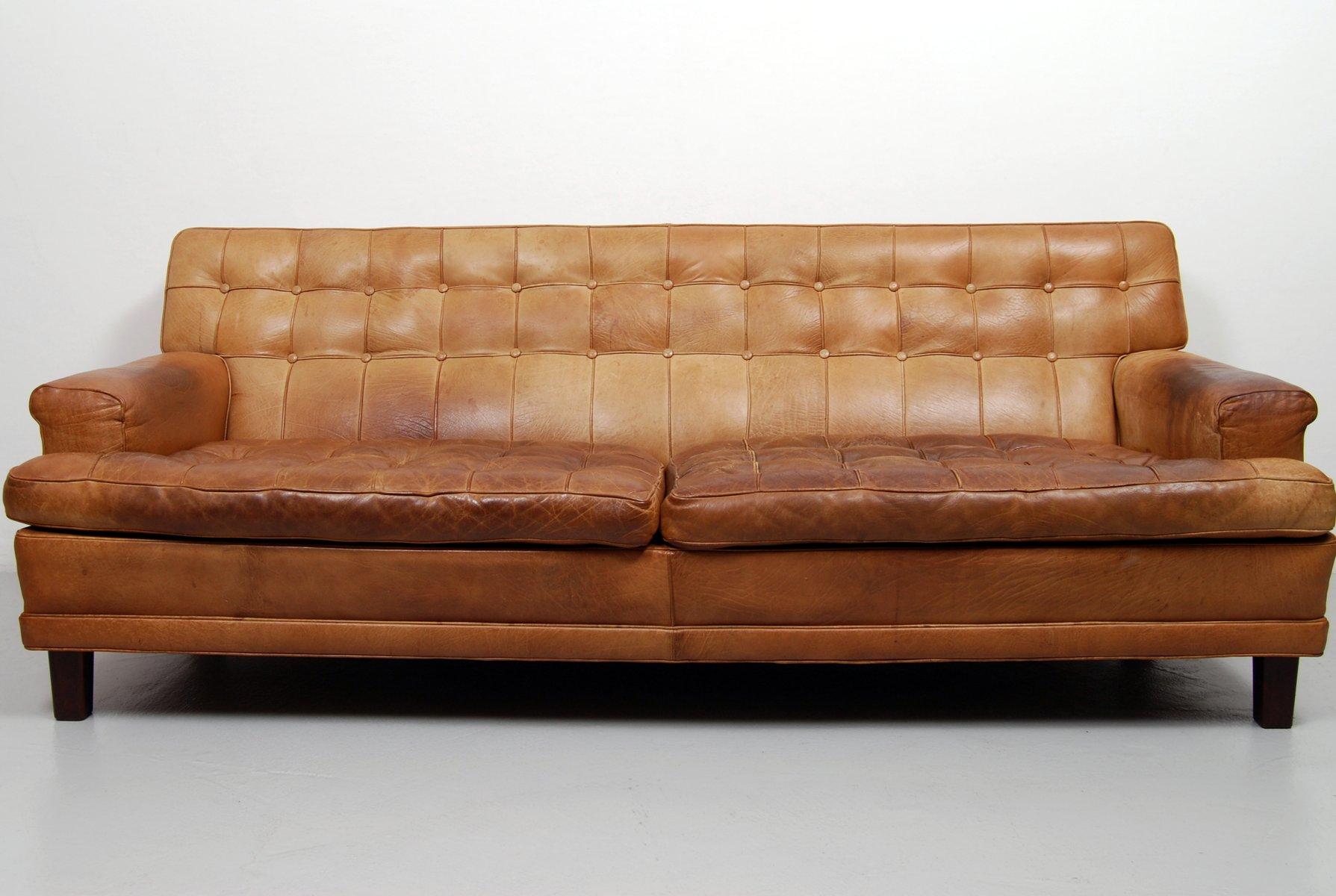 Merkur Sofa Aus Büffelleder Von Arne Norell 1960er Bei Pamono Kaufen