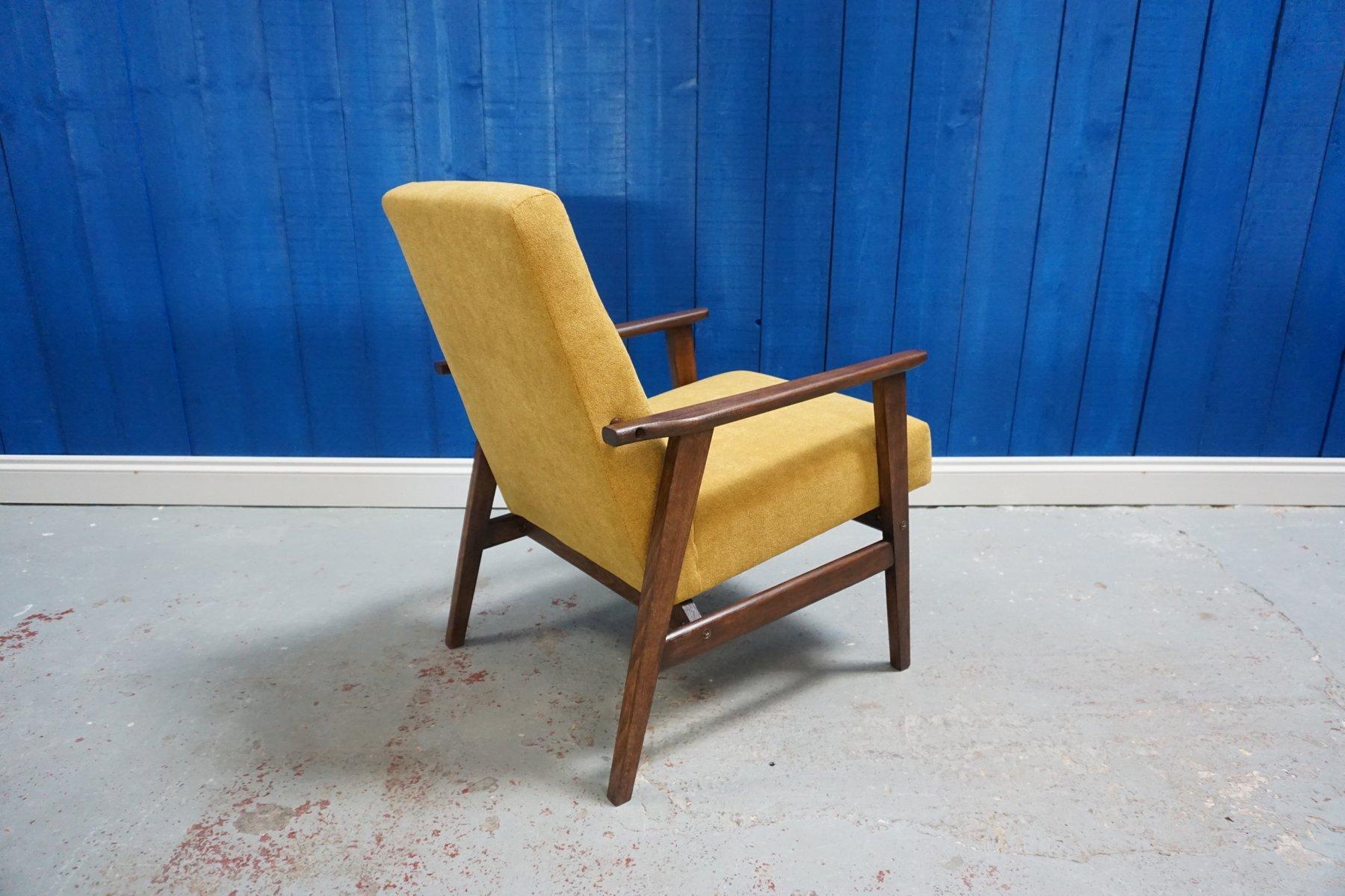 gelber mid century sessel 1960er bei pamono kaufen. Black Bedroom Furniture Sets. Home Design Ideas