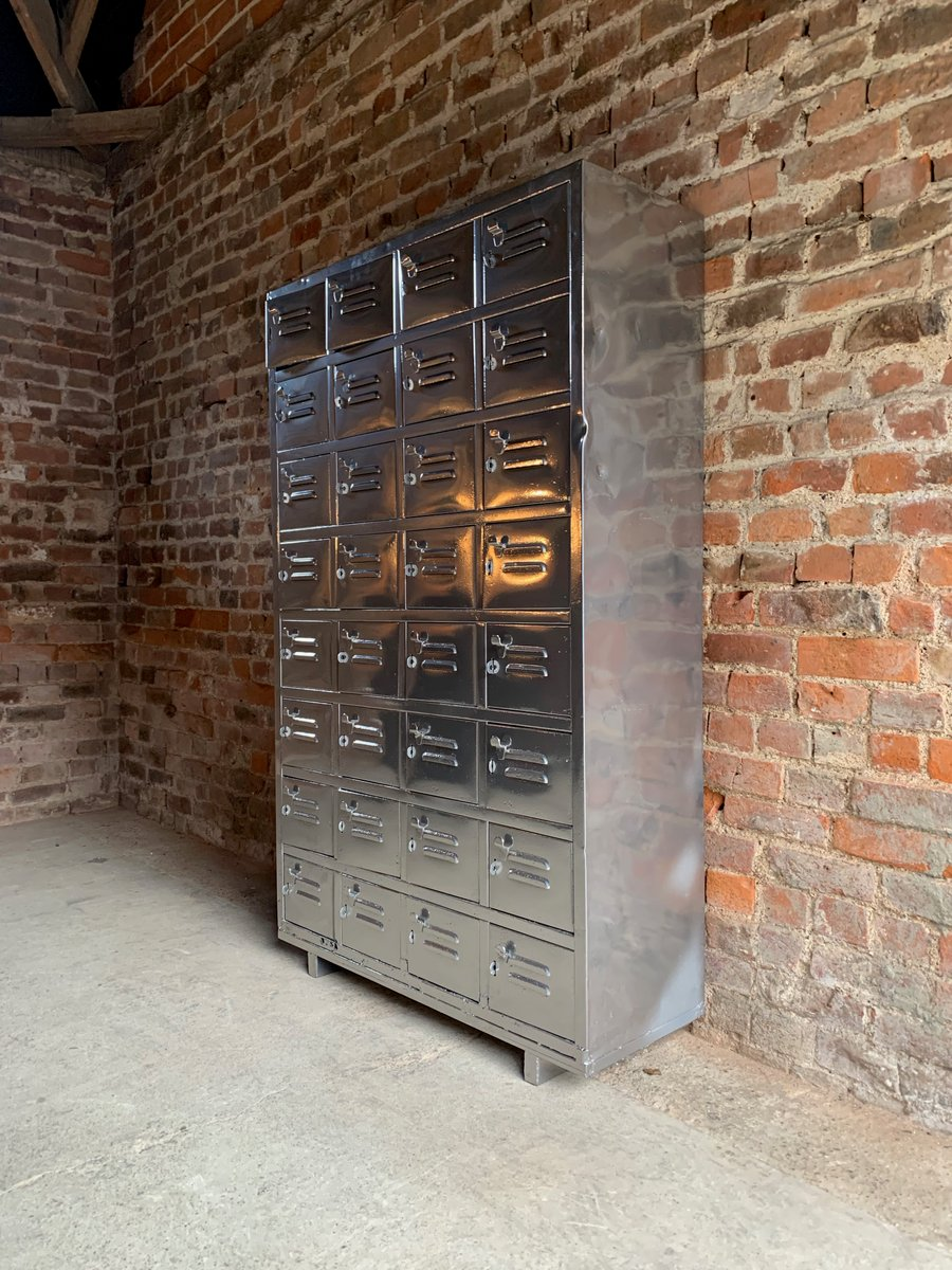 Vintage Industrial Metal Cabinet 1940s For Sale At Pamono