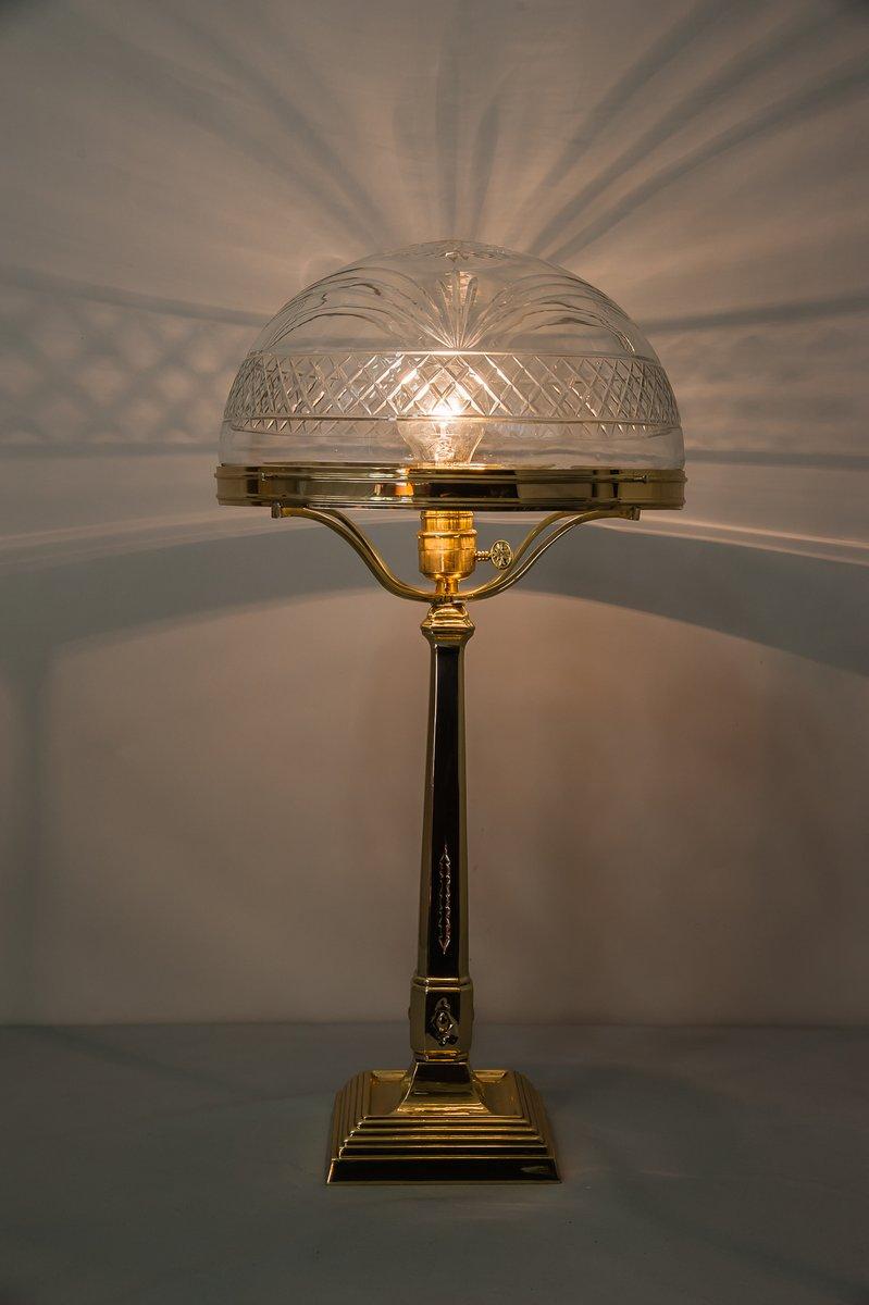 lampe de bureau viennois art nouveau avec abat jour. Black Bedroom Furniture Sets. Home Design Ideas