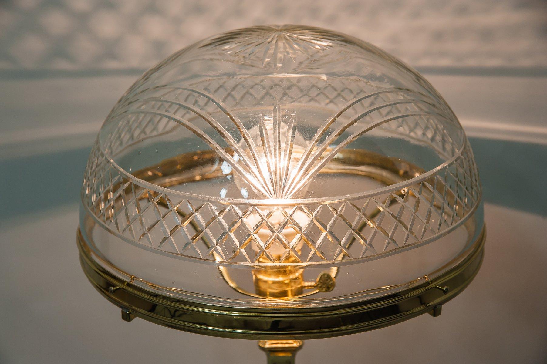 Lampe De Bureau Viennois Art Nouveau Avec Abat Jour Original En