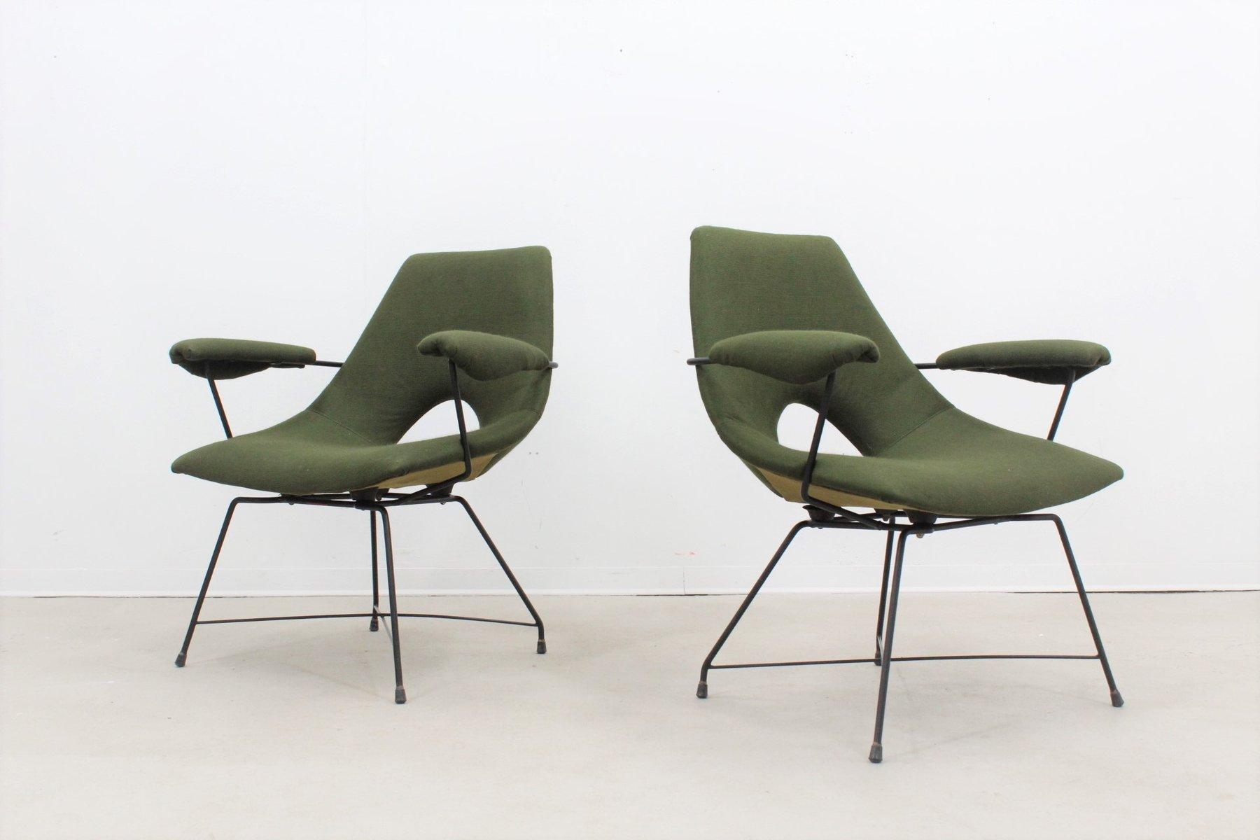 Italienische Mid-Century Sessel von Tecnisalotto, 1950er, 2er Set