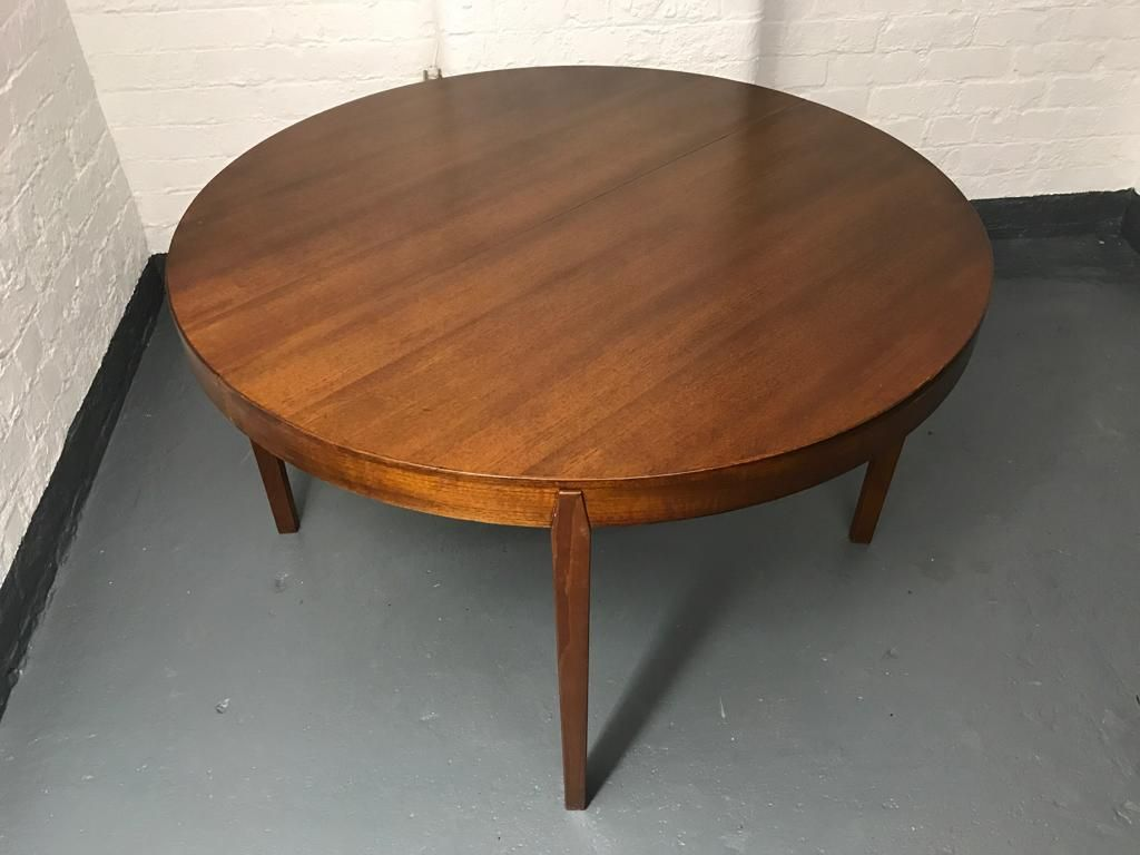 Mid Century Circular Extending Dining Table