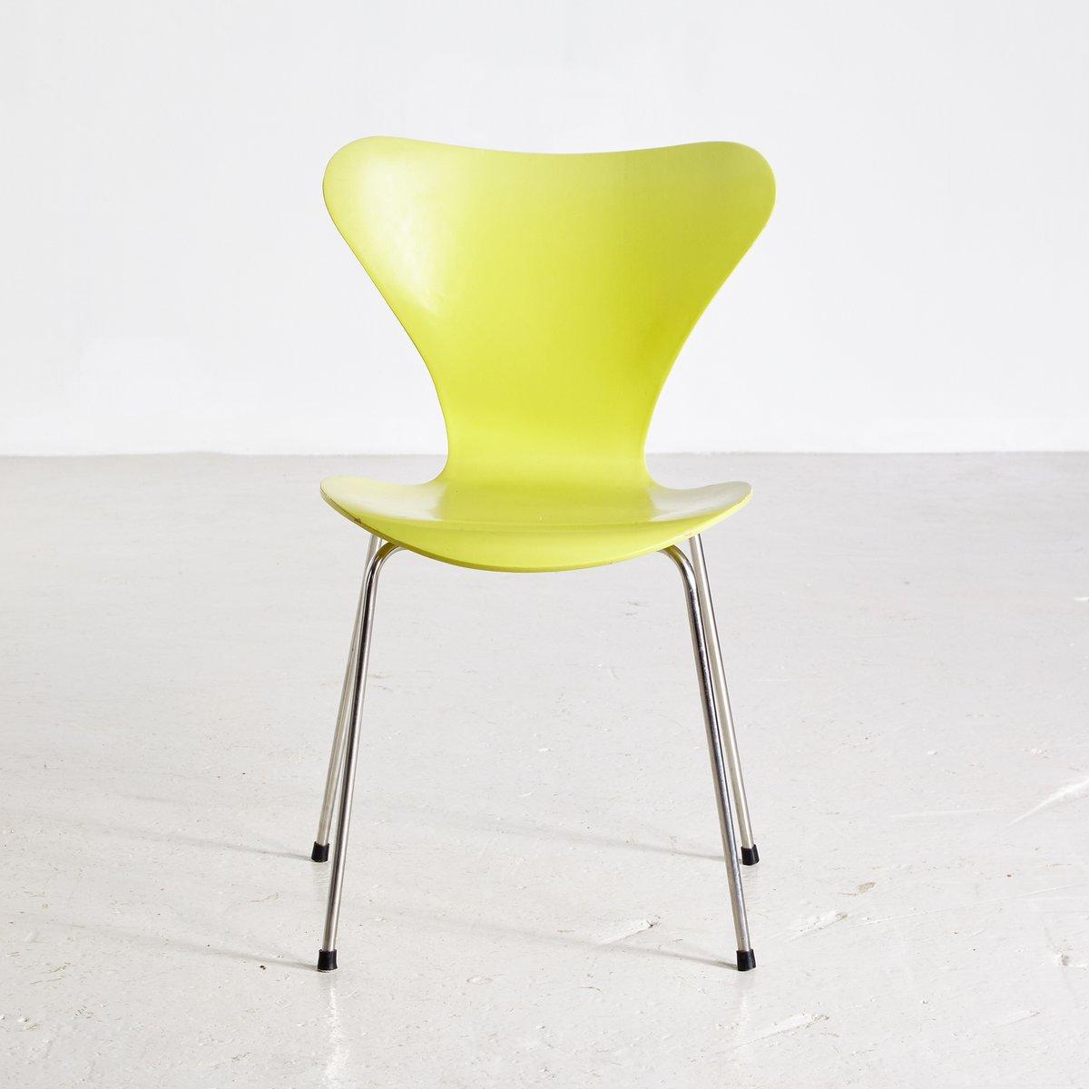 Lime Chair Aus Serie 7 Von Arne Jacobsen Für Fritz Hansen 1960er