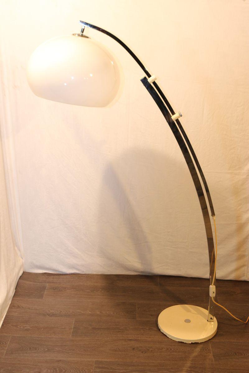 Anpassbare Bogenlampe aus Metall, 1970er