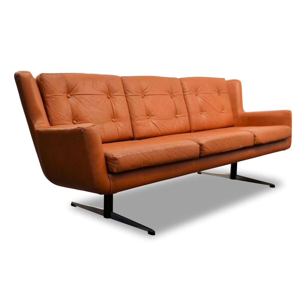 Sofa Dänisches Design : d nisches vintage 3 sitzer sofa aus leder von skjold ~ Watch28wear.com Haus und Dekorationen