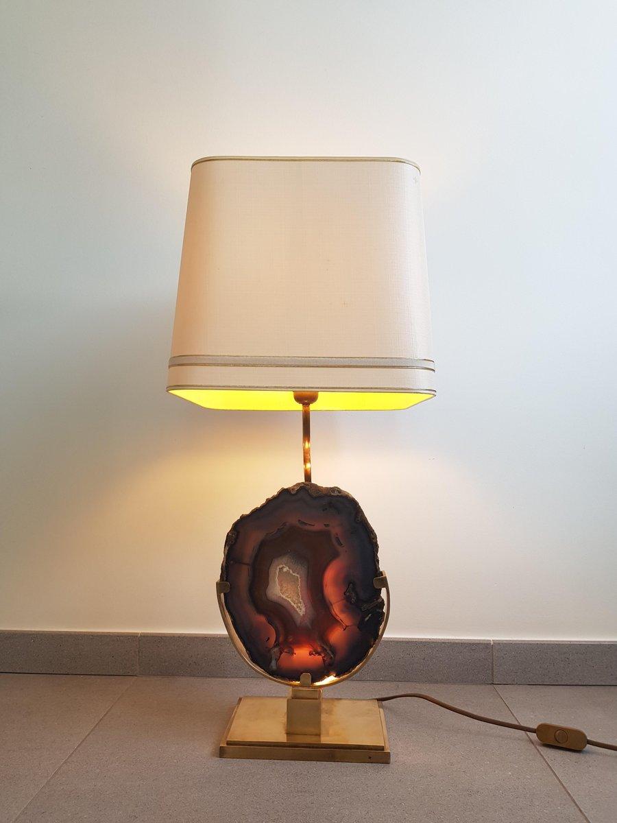Große Agate Tischlampe von Willy Daro, 1970er