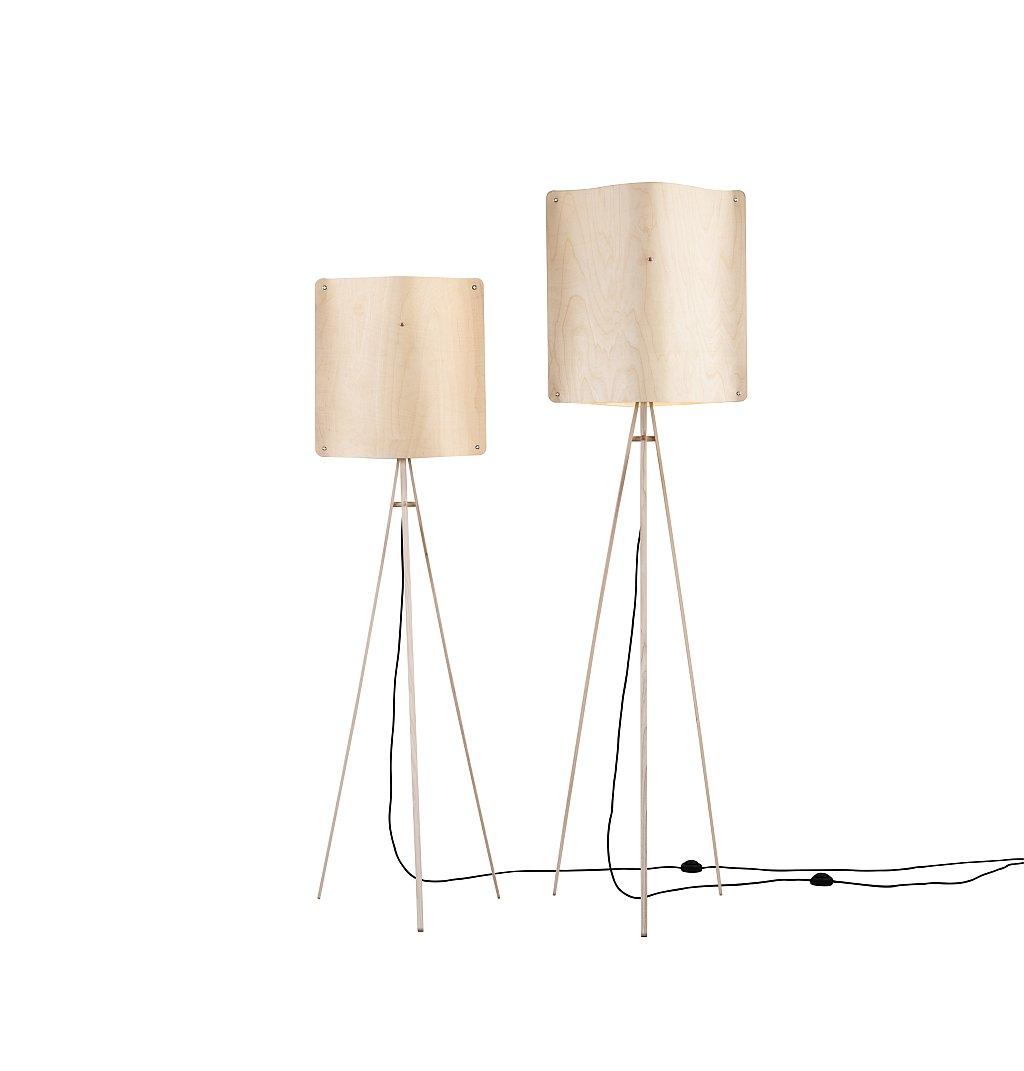 Kleine quadratische Stehlampe von Esa Vesmanen für FINOM lights
