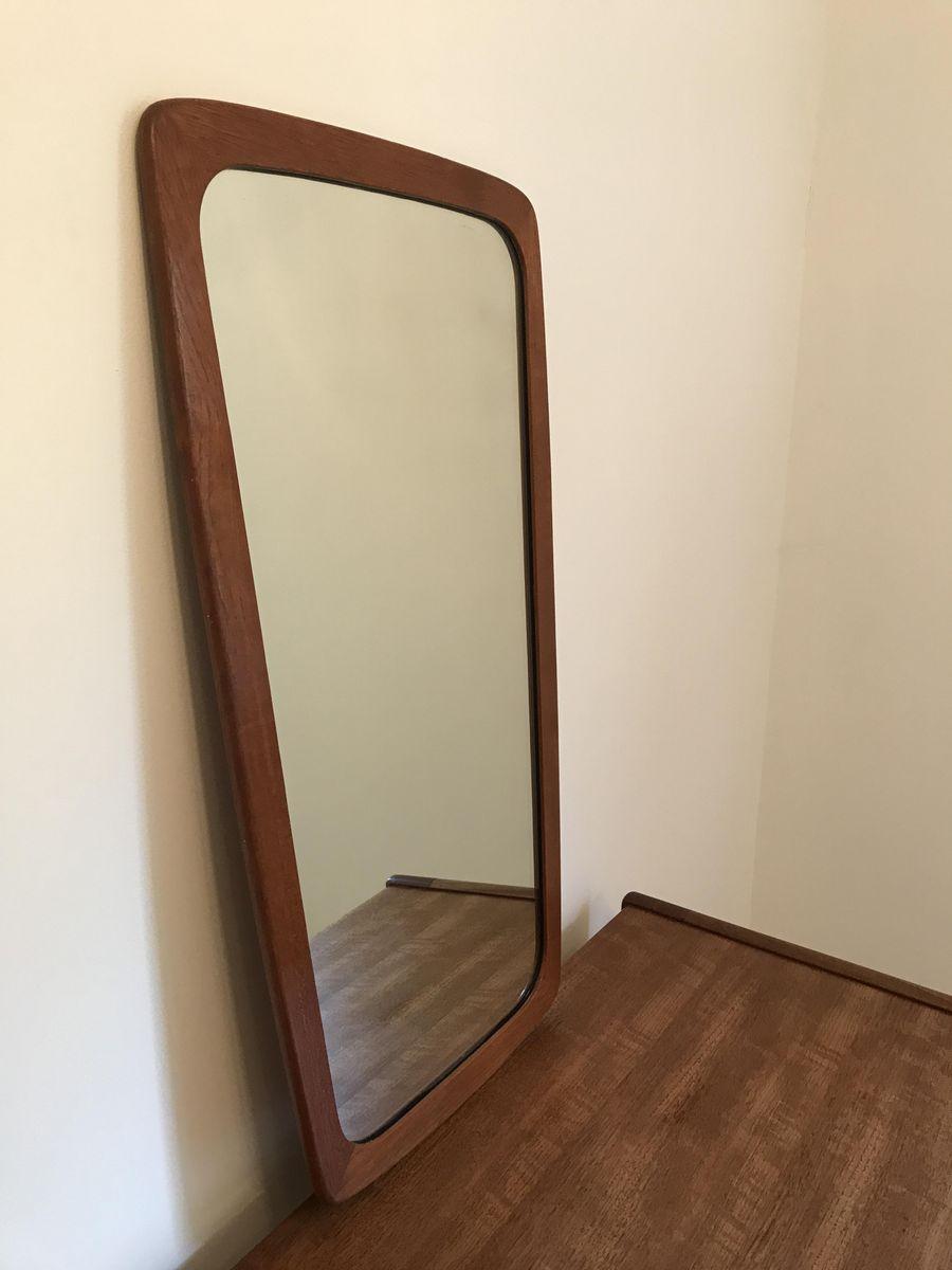 Mid century danish teak mirror 1960s