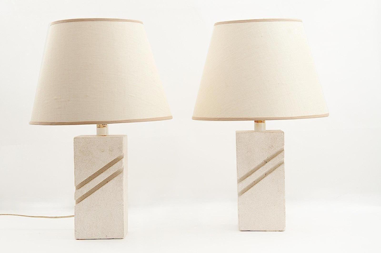 Französische Tischlampen von Albert Tormos, 1970er, 2er Set