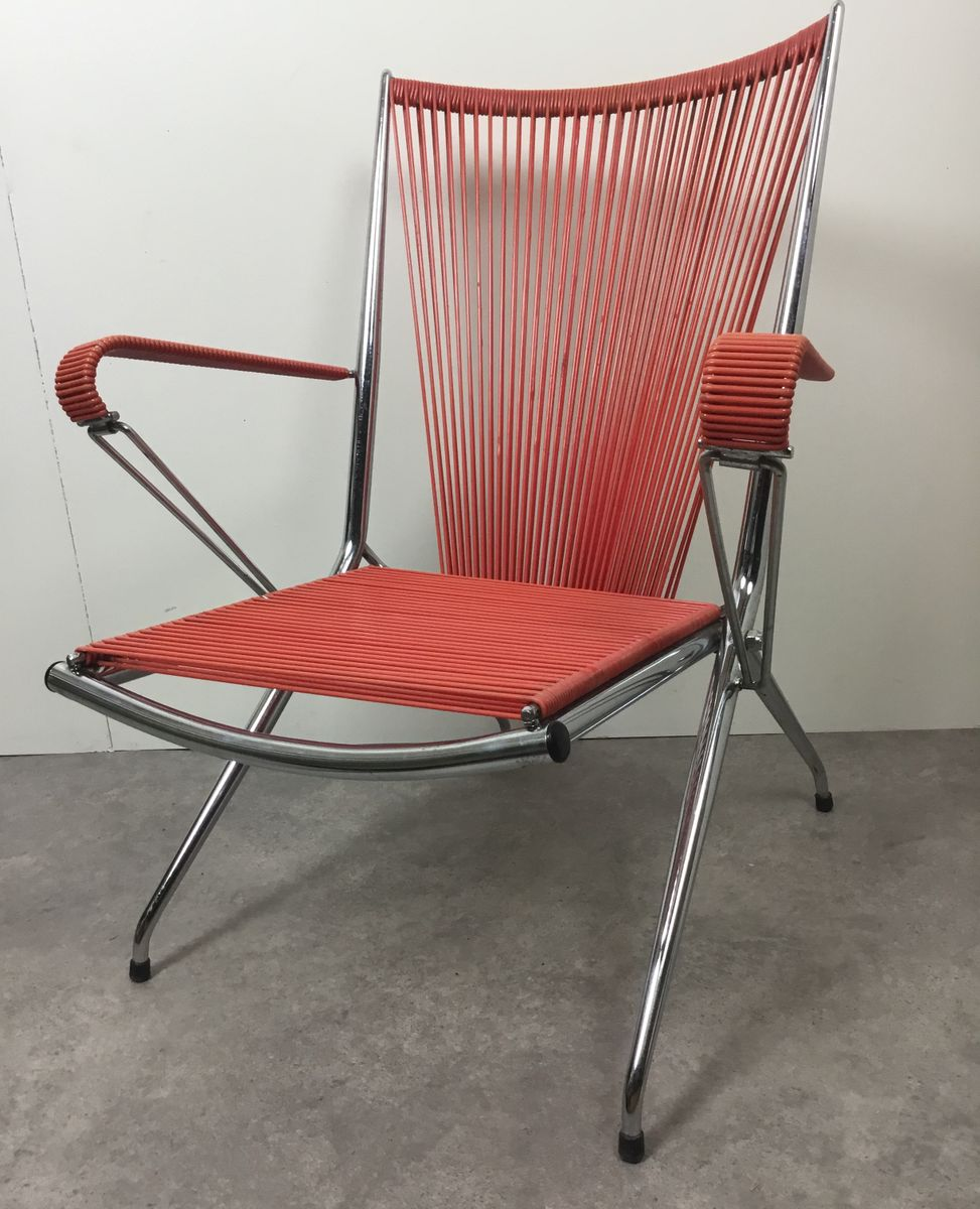 Chaise Pliante Chromee Vintage France