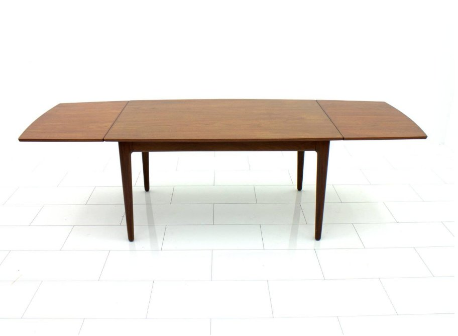 Danish Drop Leaf Teak Table, 1960s