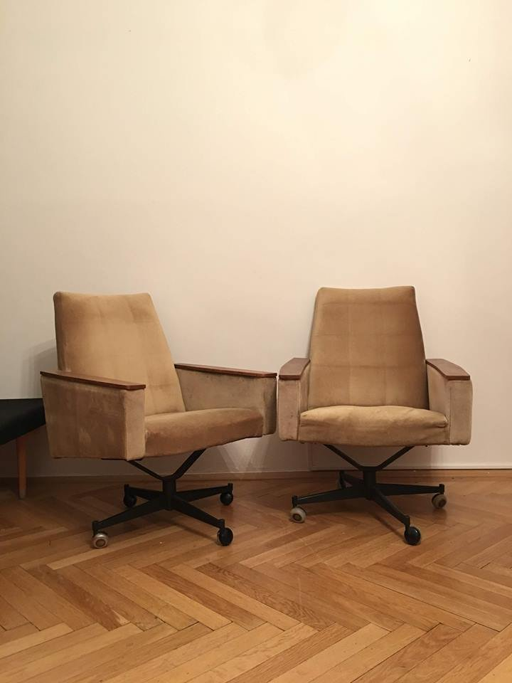 Vintage Lounge Chairs, 1960s, Set of 2