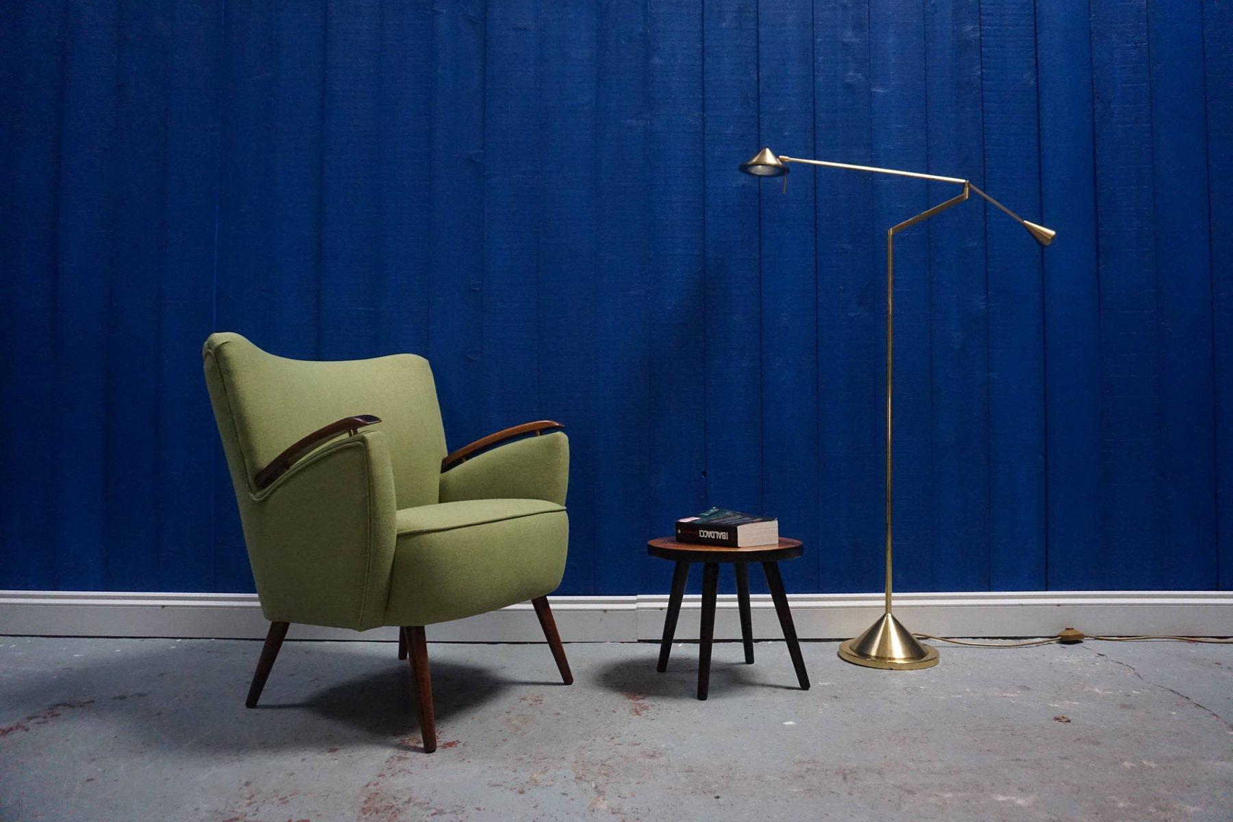 gr ner mid century shell stuhl 1960er bei pamono kaufen. Black Bedroom Furniture Sets. Home Design Ideas