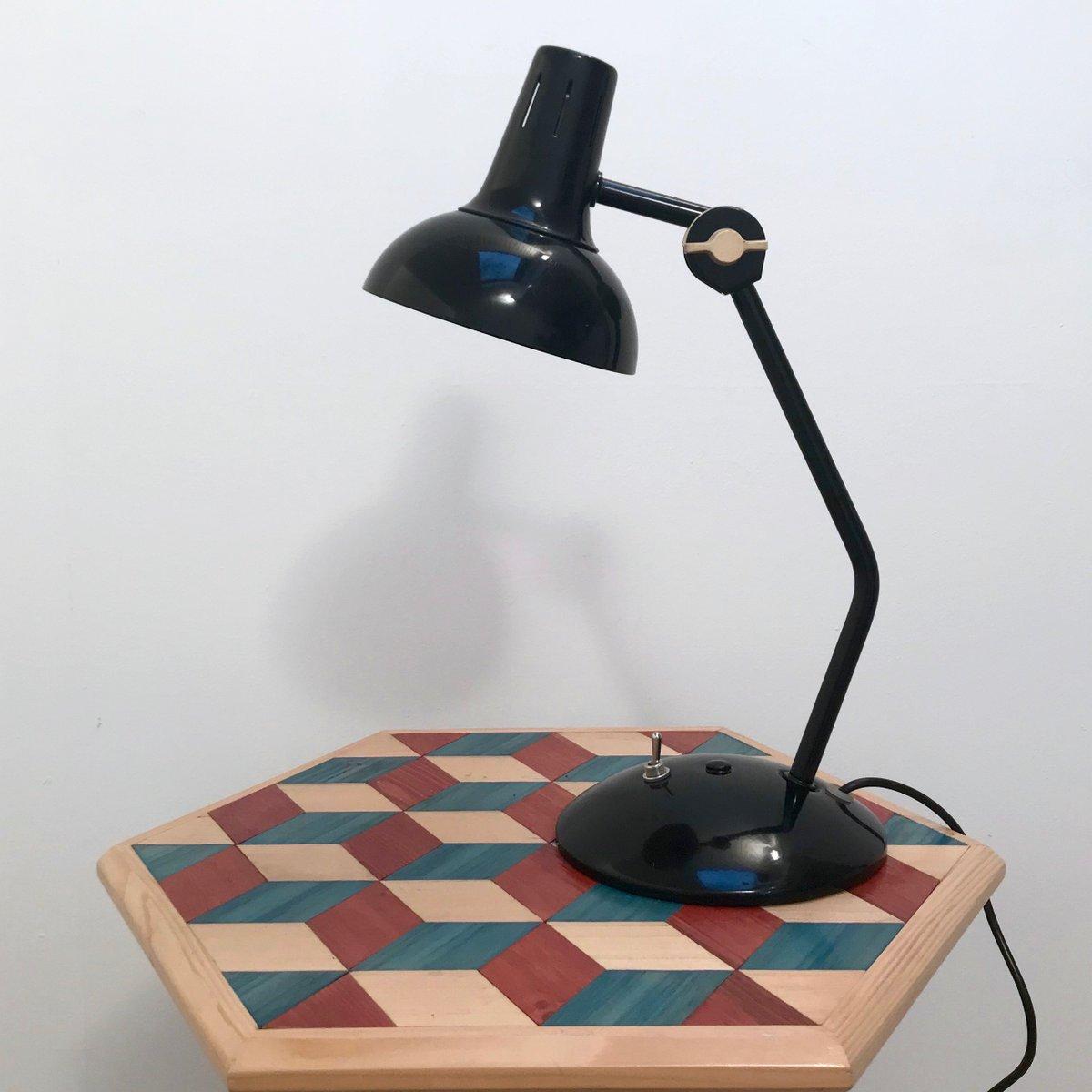 Vintage Gelenk-Schreibtischlampe in Schwarz