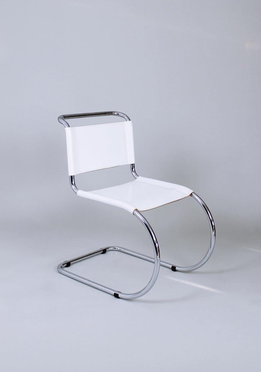 bauhaus mr10 stuhl von ludwig mies van der rohe 1980er. Black Bedroom Furniture Sets. Home Design Ideas