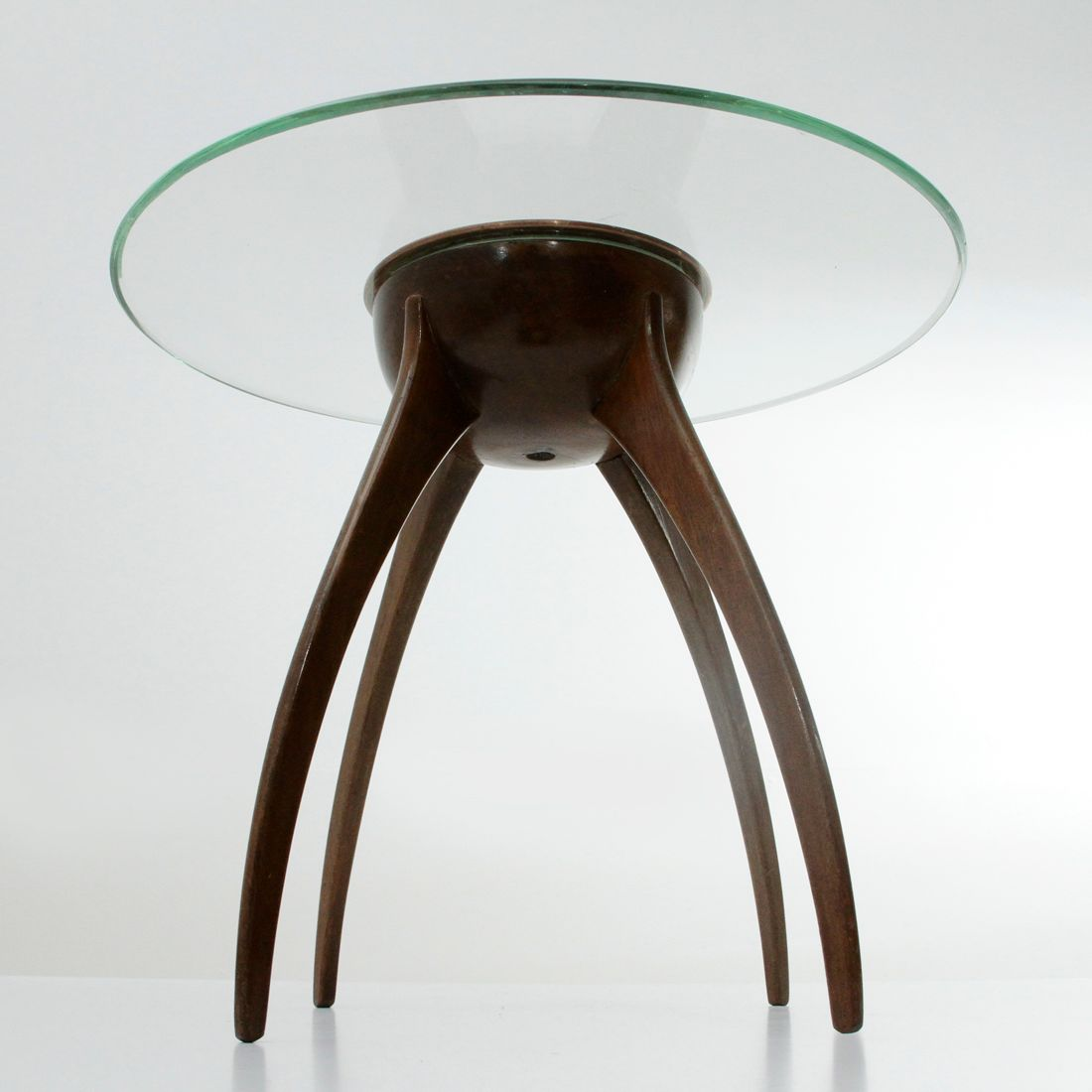 Mid-Century Italian Coffee Table With Copper Cup, 1940s