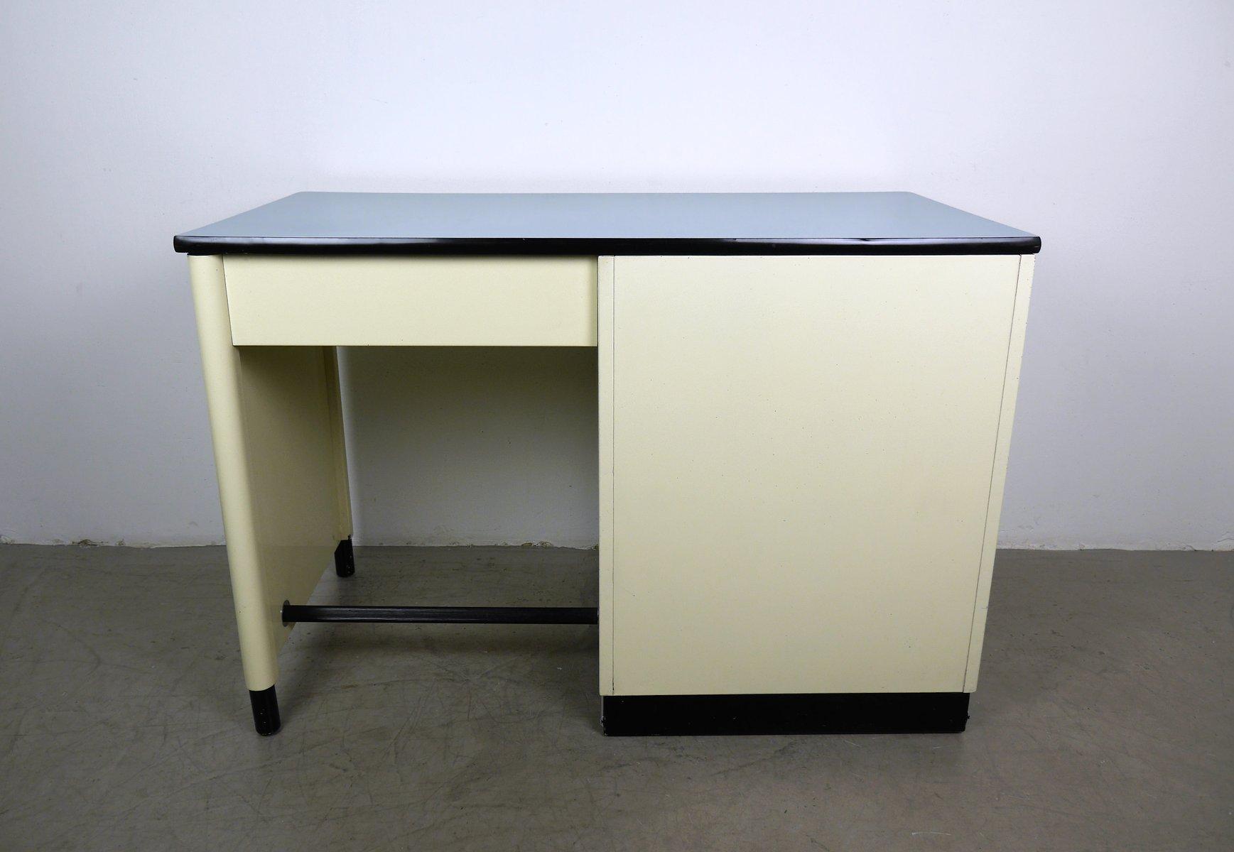 schreibtisch aus metall von baisch 1950er bei pamono kaufen. Black Bedroom Furniture Sets. Home Design Ideas