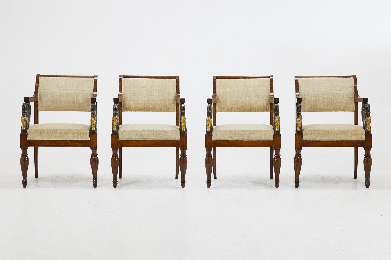 italienische st hle 19 jh 4er set bei pamono kaufen. Black Bedroom Furniture Sets. Home Design Ideas