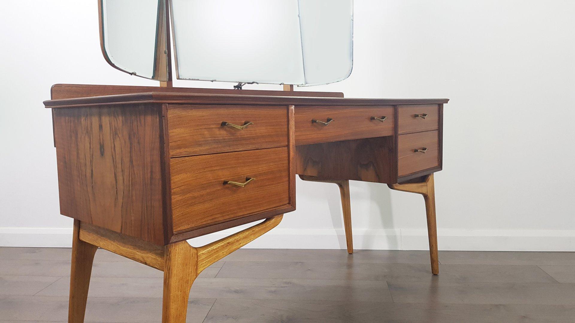 vintage frisiertisch mit spiegel von alfred cox f r ac. Black Bedroom Furniture Sets. Home Design Ideas
