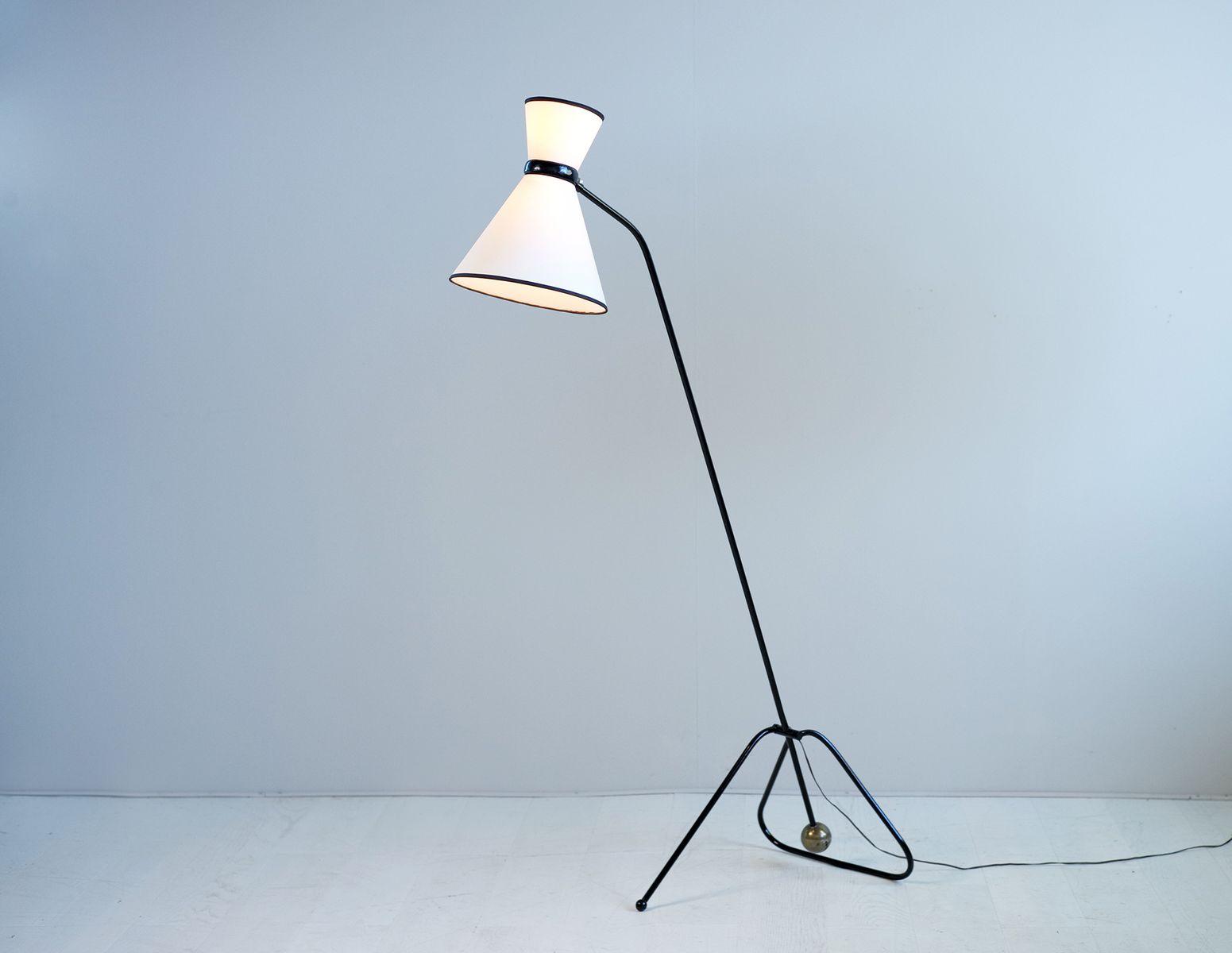 Gegengewicht-Stehlampe von Maurice Flachet für Guillemard, 1950er