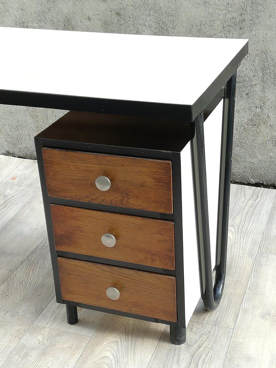 moderner schreibtisch aus holz metall 1950er bei pamono kaufen. Black Bedroom Furniture Sets. Home Design Ideas