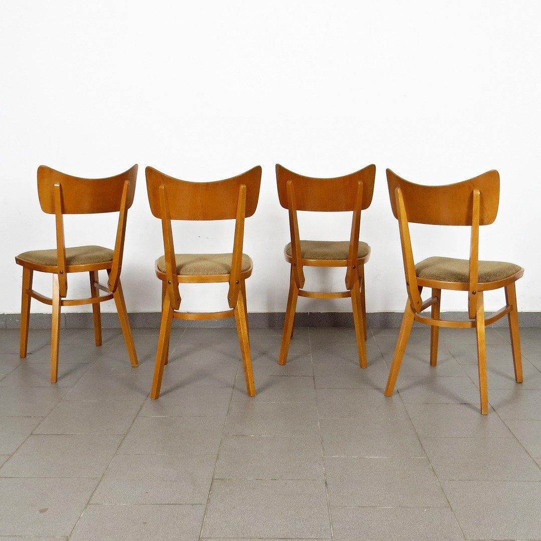 Sedie da pranzo anni 39 60 set di 4 in vendita su pamono for Sedie design anni 20