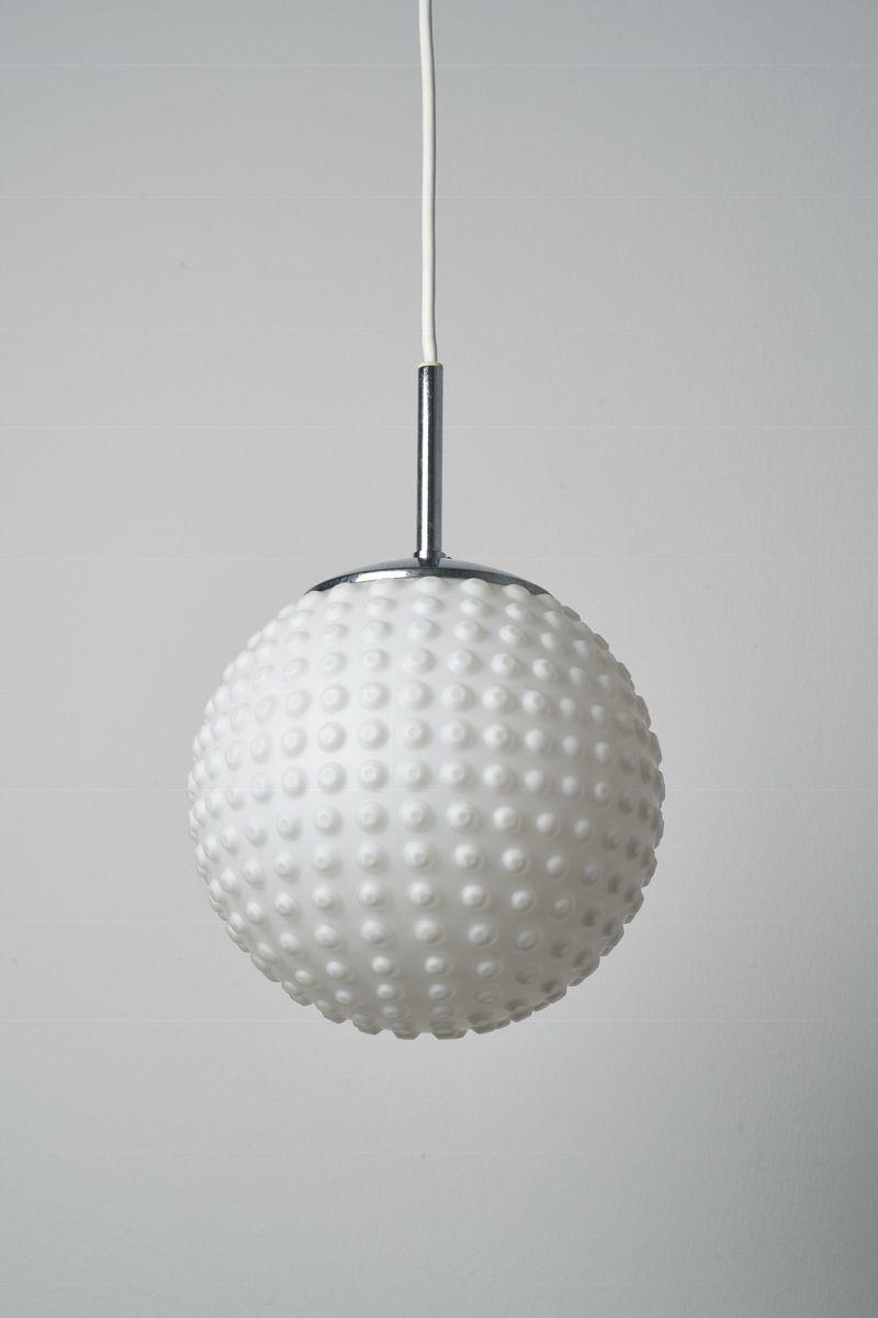 Vintage Lampe aus Sideglas von Rolf Krüger für Staff, 1960er
