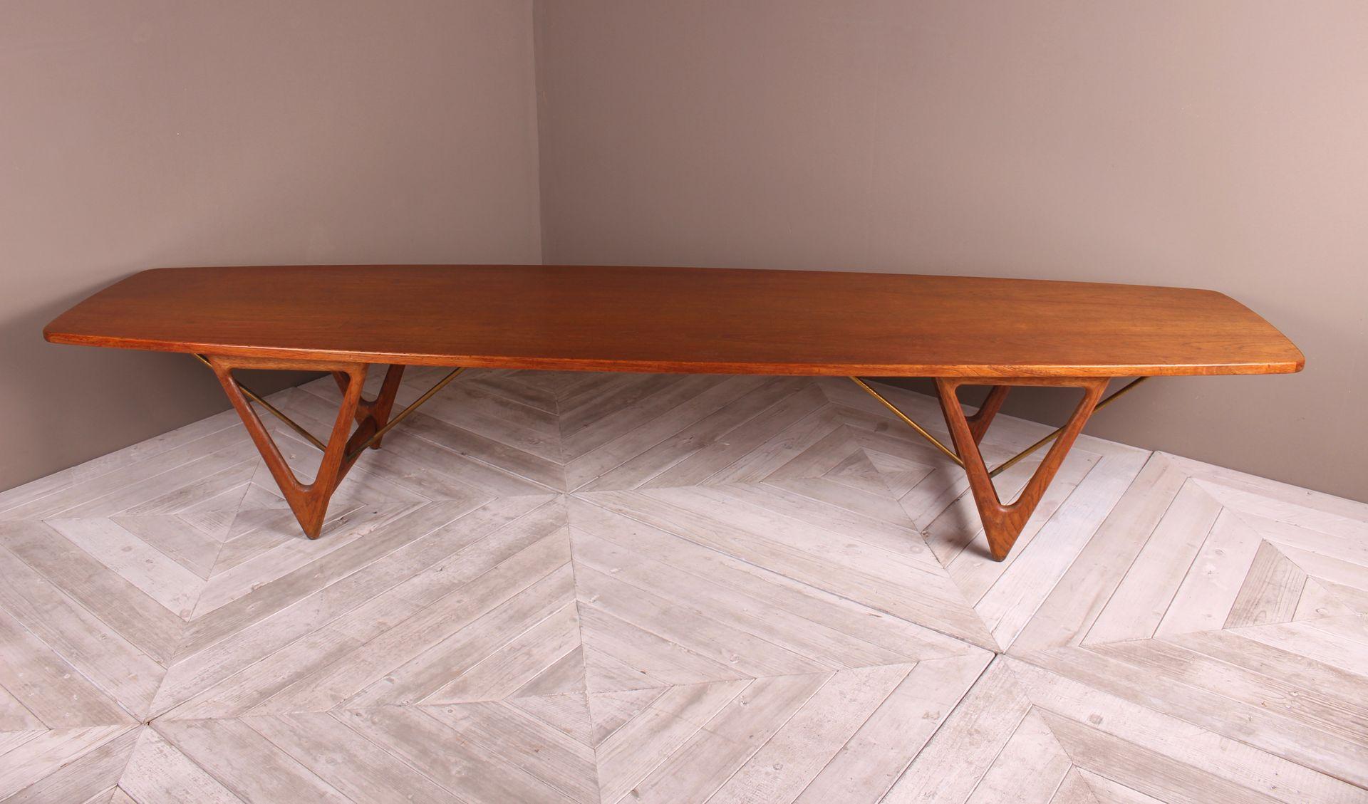 Grande Table Basse Planche De Surf Par Kurt Ostervig Pour Jason