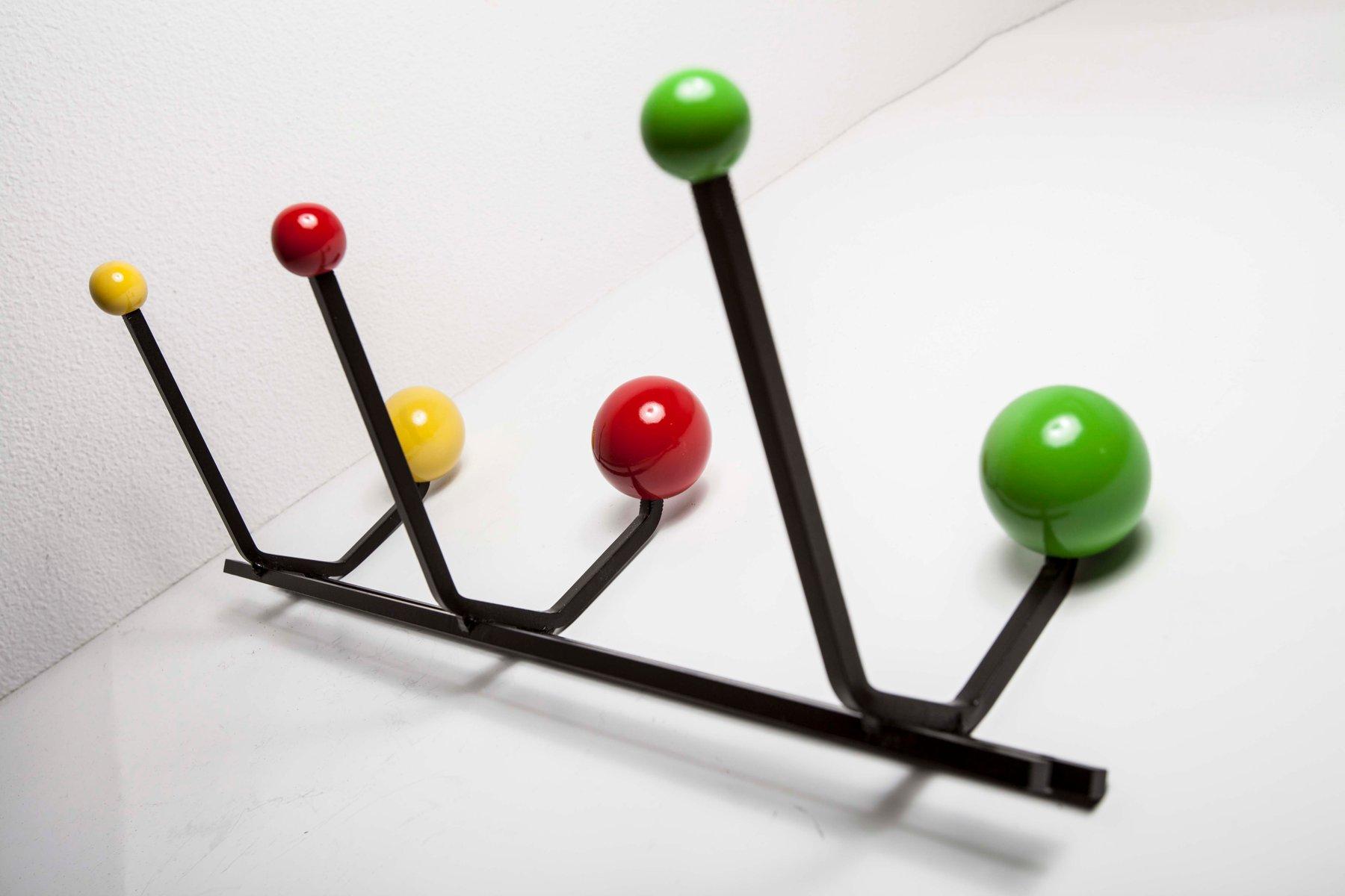 porte manteau 6 pat res boules vintage en vente sur pamono. Black Bedroom Furniture Sets. Home Design Ideas
