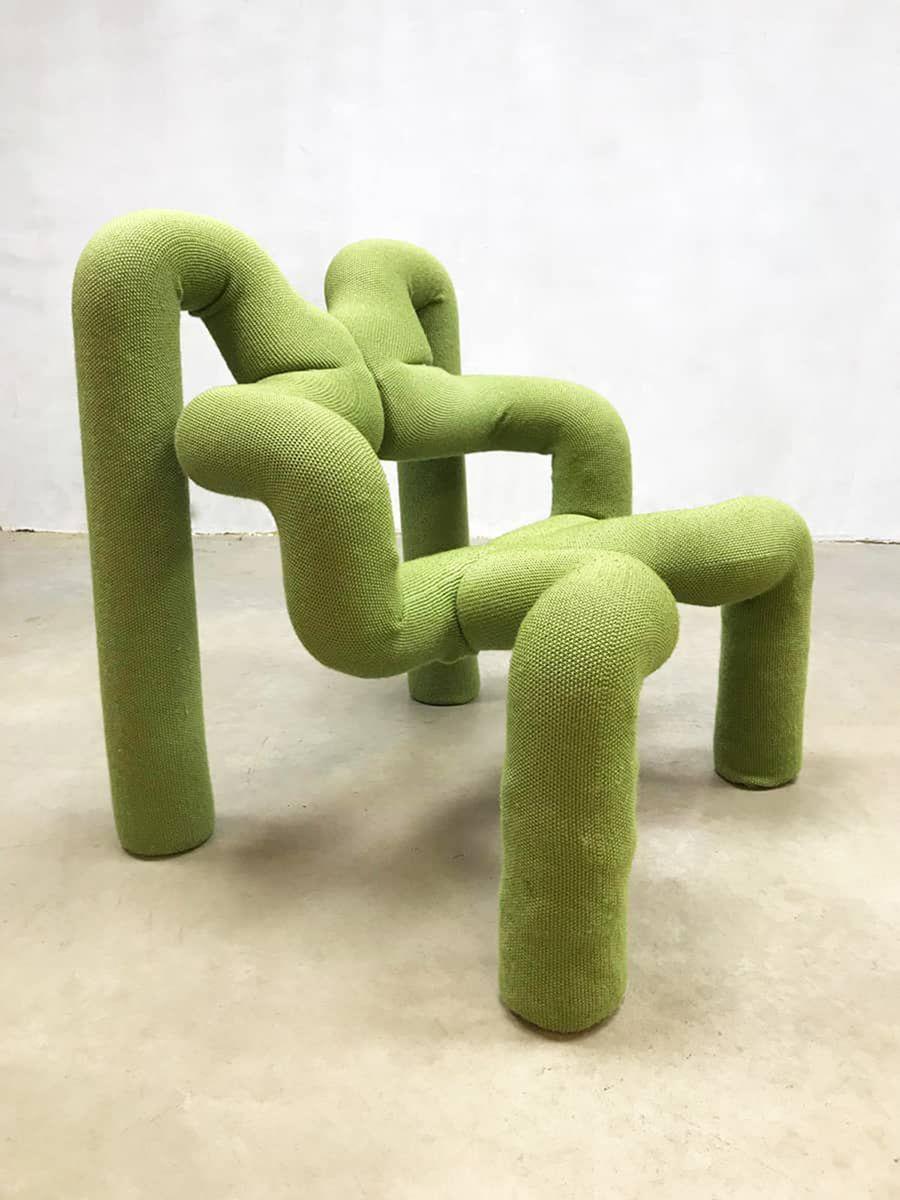 Grüner Vintage Sessel von Terje Ekstrøm für Stokke Varier, 1970er