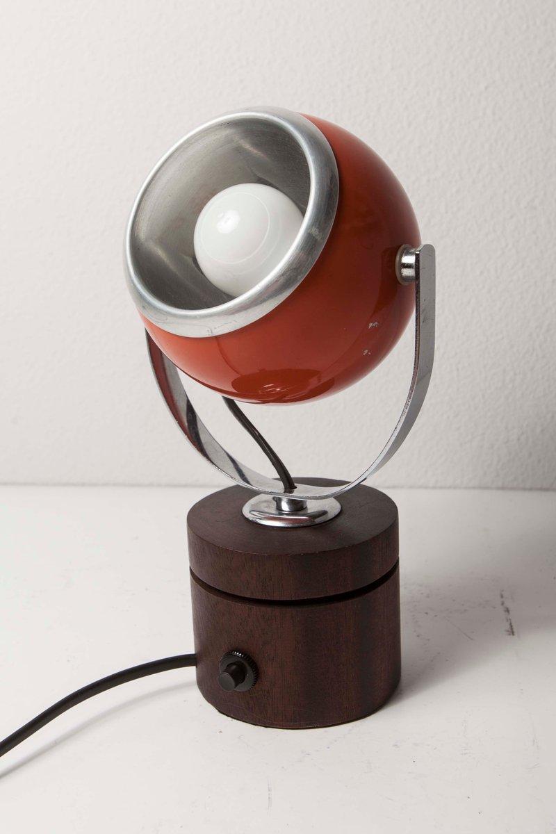 vintage eyeball lampe aus holz mueller volkesfeld. Black Bedroom Furniture Sets. Home Design Ideas
