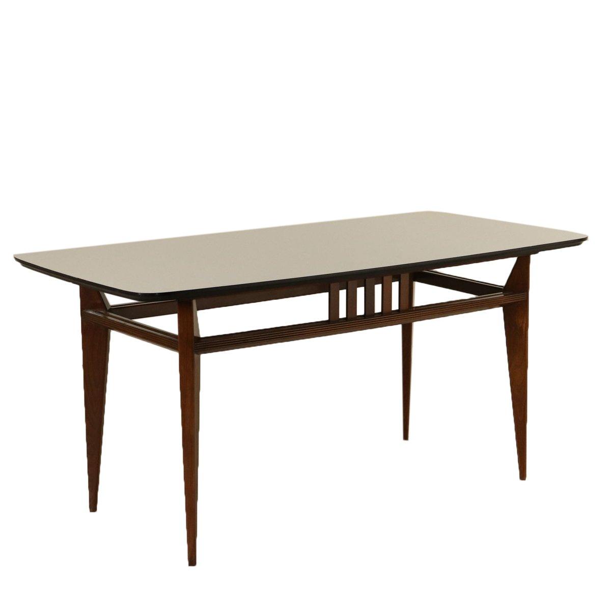 Italienischer Tisch aus Buche & Resopal, 1960er