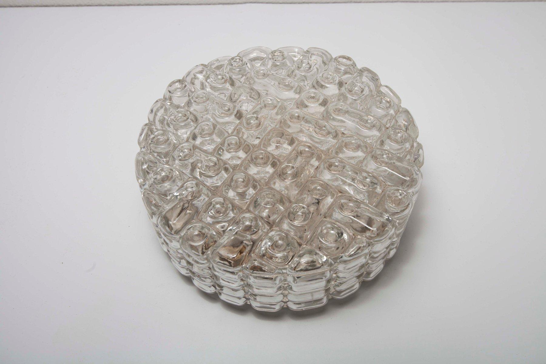 Runde Vintage Deckenlampe von Erco