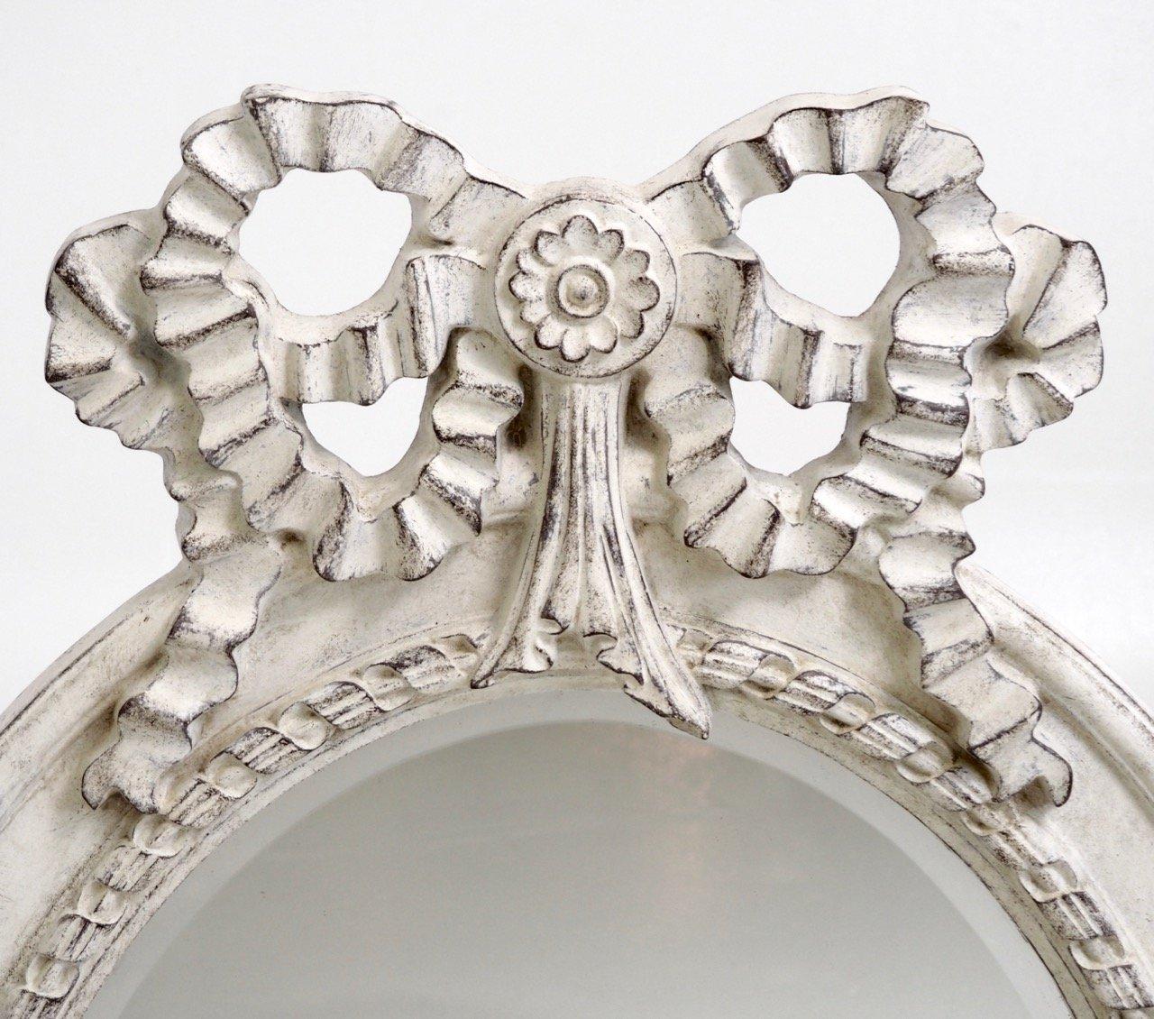 gro er konischer gustavianischer spiegel mit geschnitztem. Black Bedroom Furniture Sets. Home Design Ideas