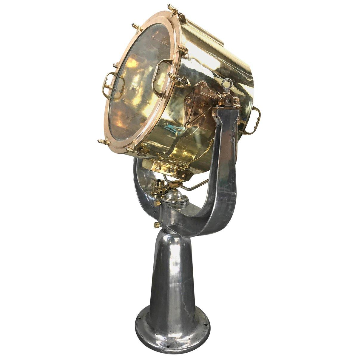 Maritimer Suchscheinwerfer aus Messing, Bronze und Aluminium von Rothe...