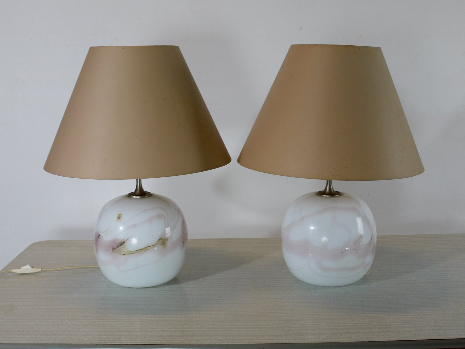 Sakura Table Lamps by Michael Bang for Holmegaard, 1980s, Set of 2