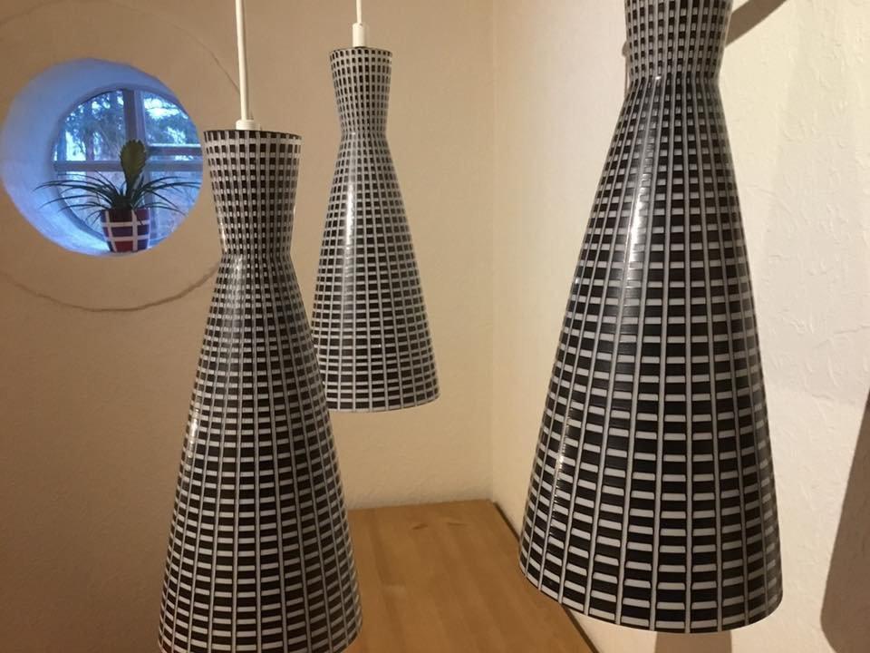 moderne italienische diablo h ngelampe aus glas teak. Black Bedroom Furniture Sets. Home Design Ideas
