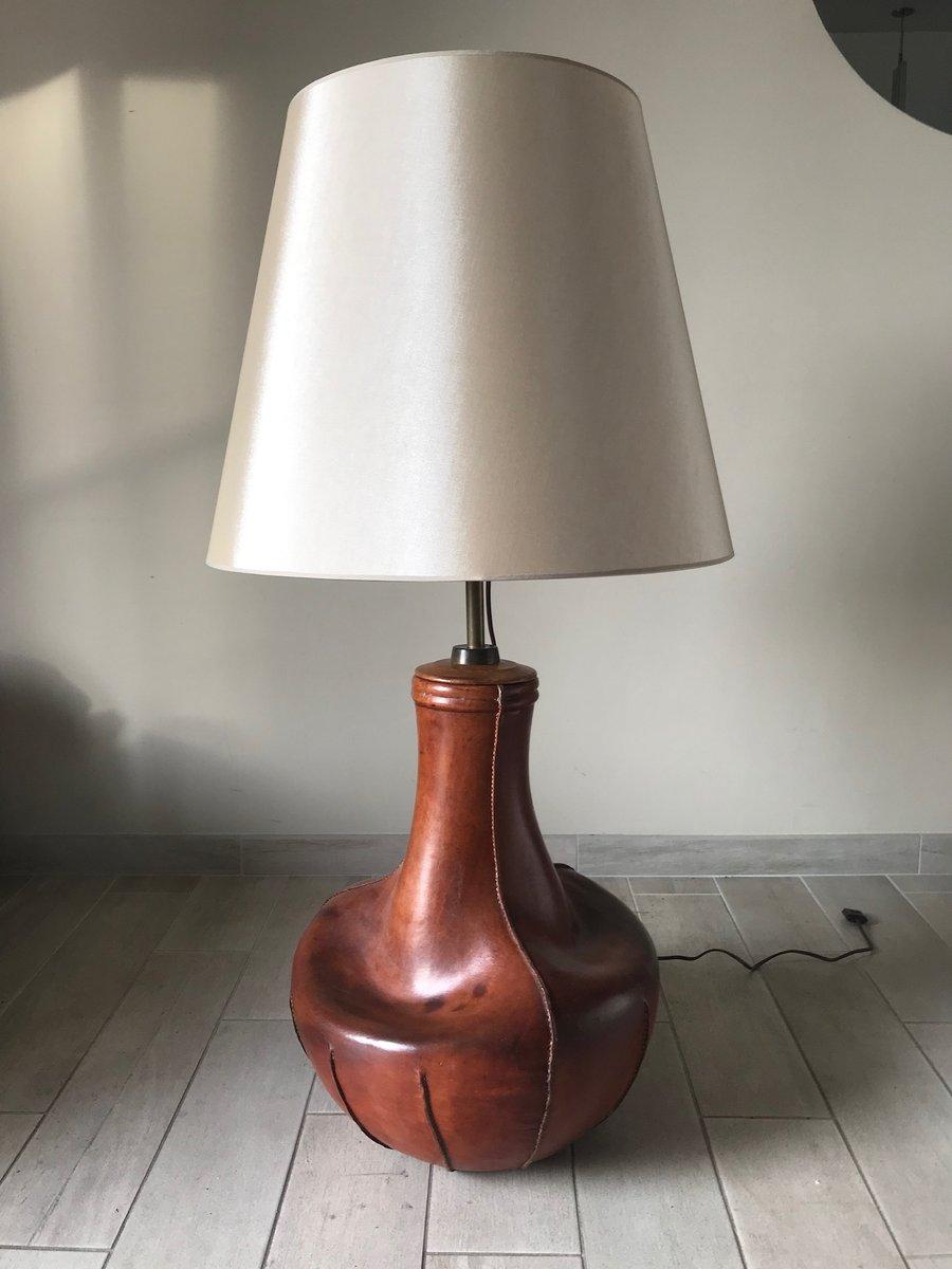 Vintage Lederlampe, 1960er