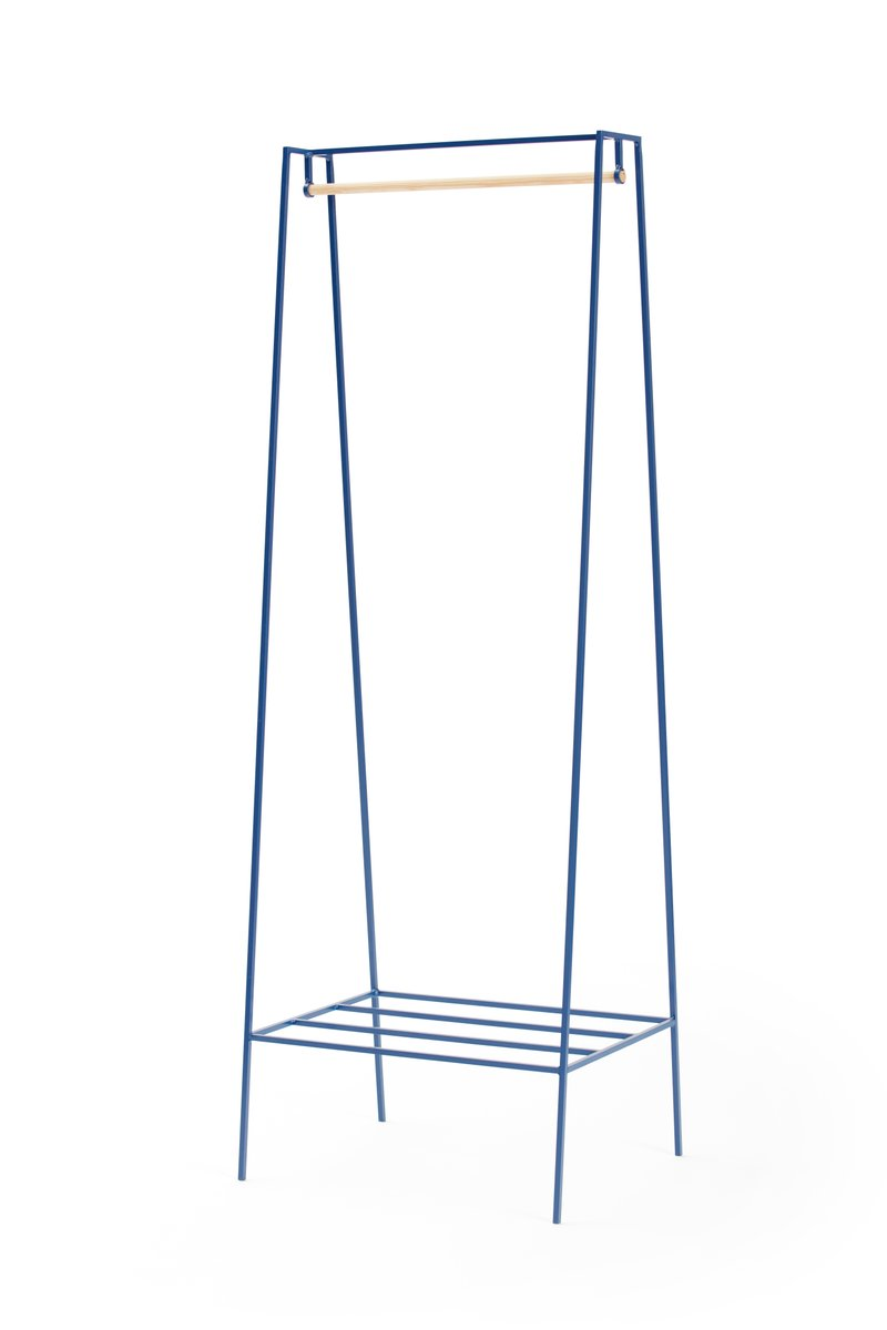 a clothes rail in blueberry with a pine pole by new for. Black Bedroom Furniture Sets. Home Design Ideas