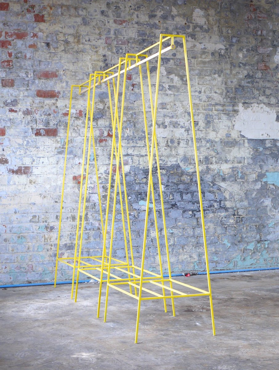 a clothes rail in yellow with a pine pole by new for sale. Black Bedroom Furniture Sets. Home Design Ideas