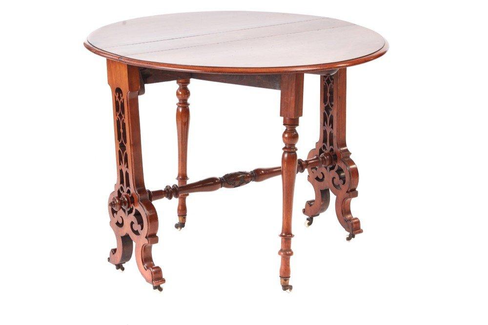 Viktorianischer Sutherland Tisch aus Walnuss-Wurzelholz, 1850er