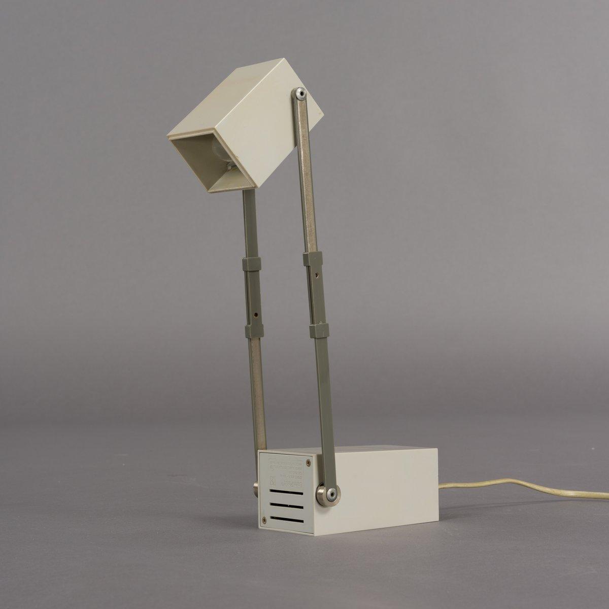 Graue dänische Lampetit Tischlampe von Verner Panton für Louis Poulsen...