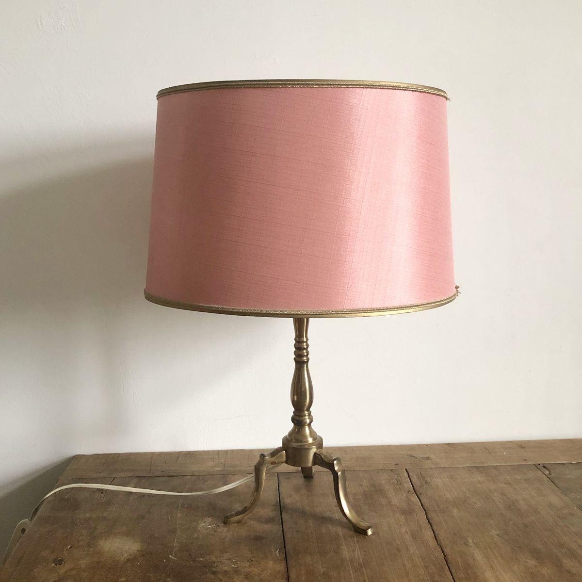 Pinke Vintage Tischlampe, 1960er