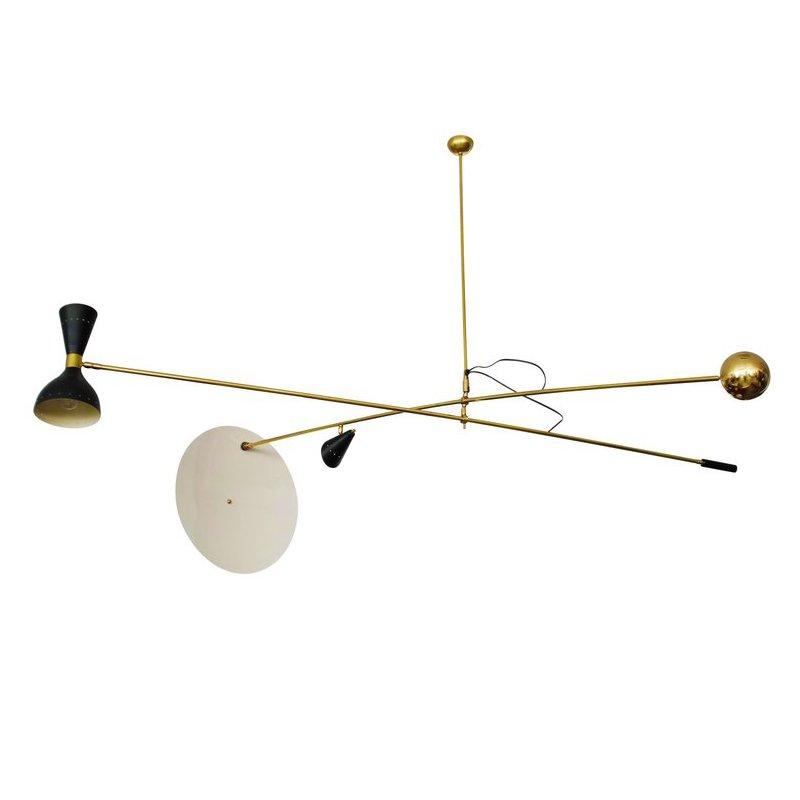 Italienische Mid-Century Lampe mit Gegengewicht, 1950er
