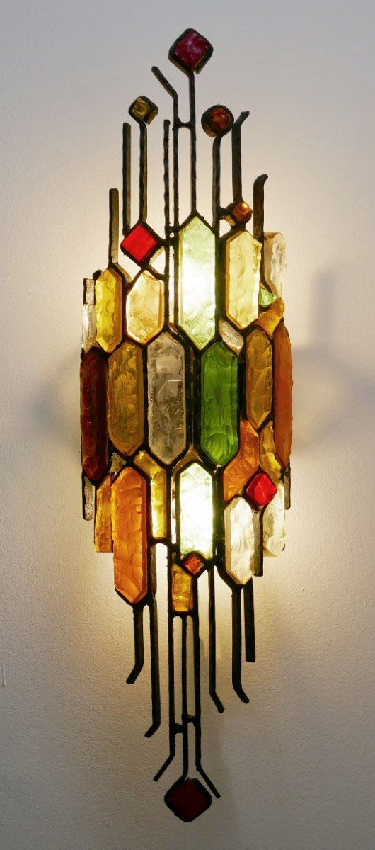 Skulpturale Wandlampen von Poliarte, 1950er, 2er Set