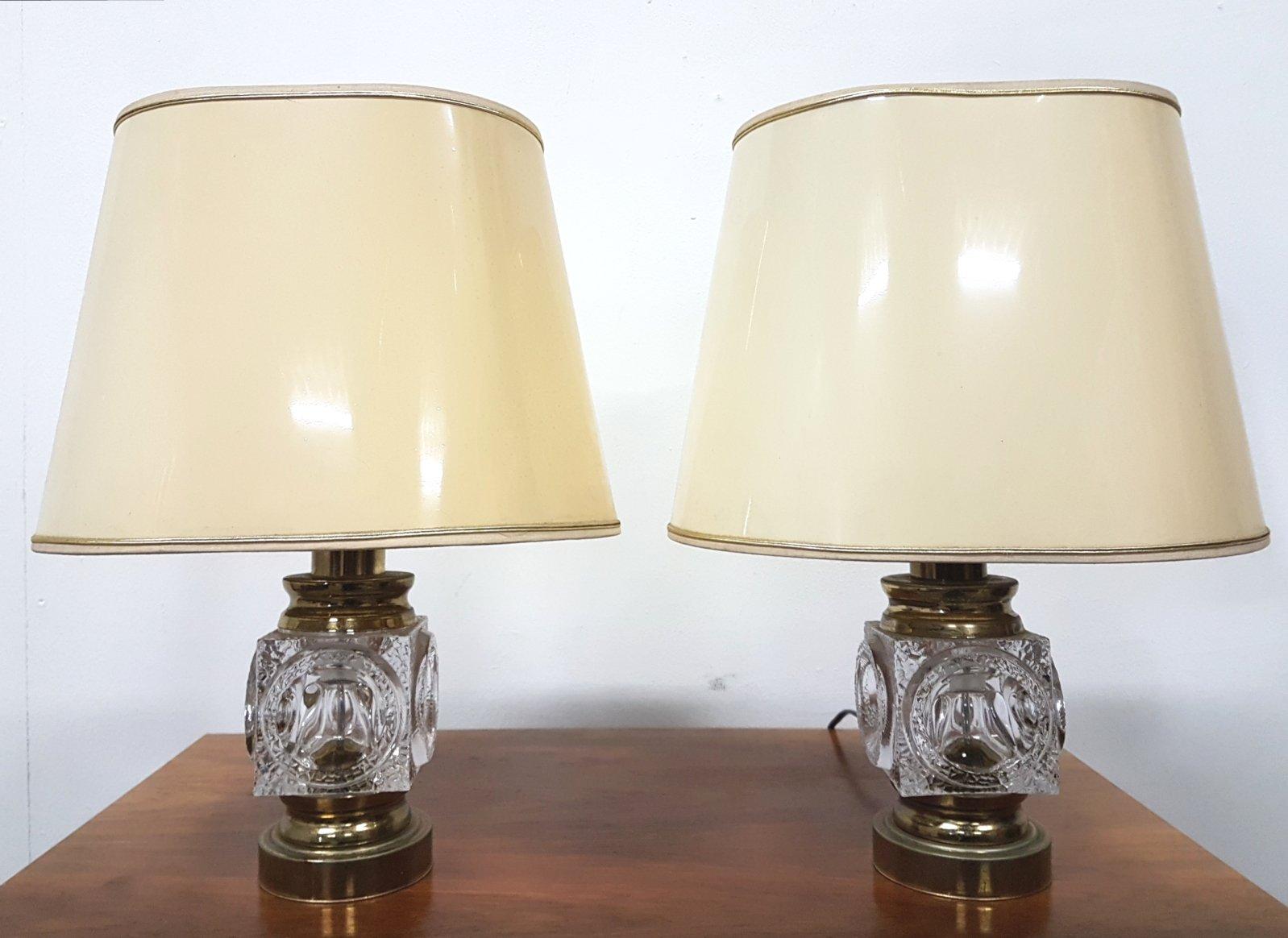 Illuminazione da interno set di stile vintage in ottone anticato