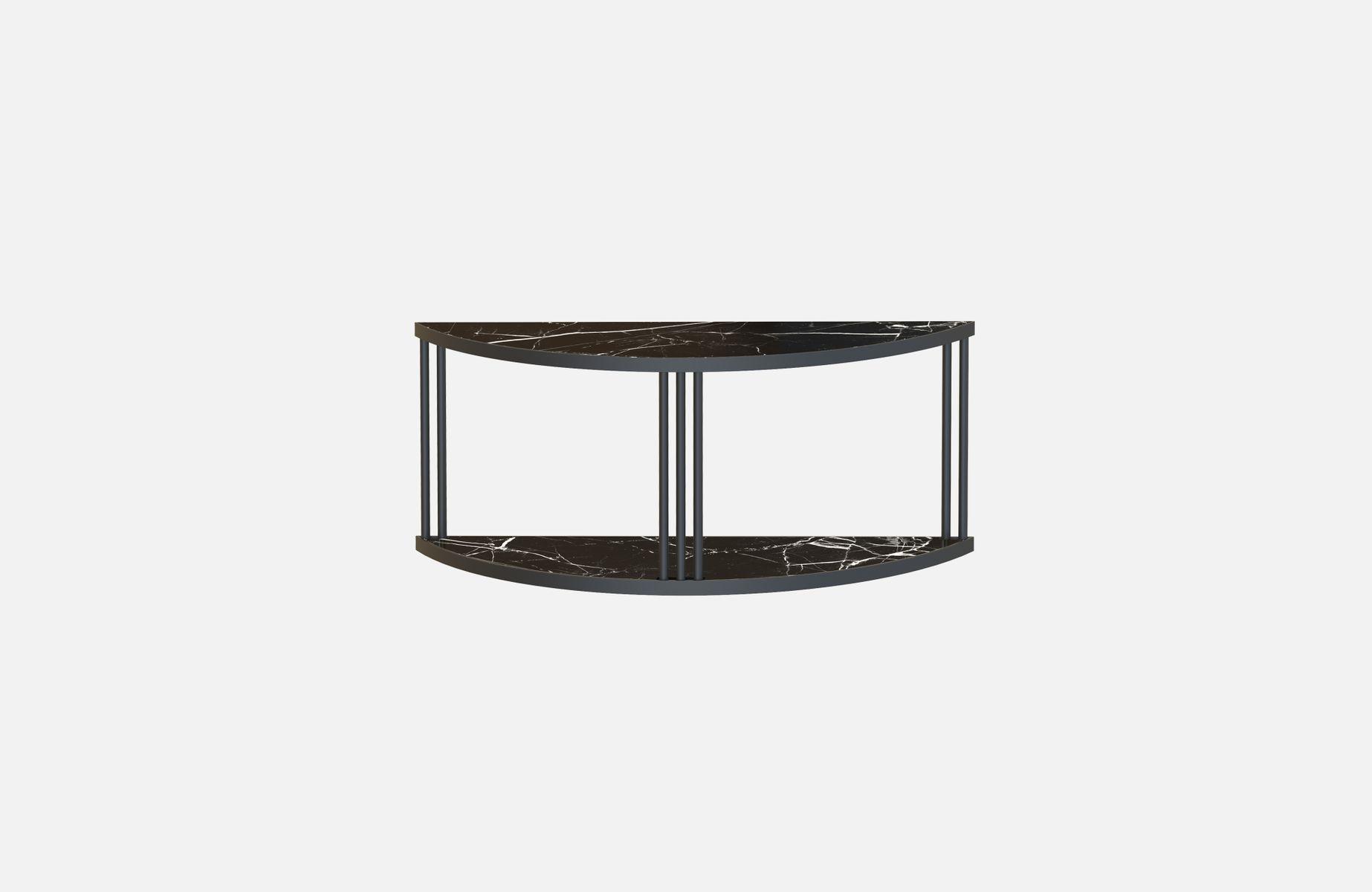 Schwarzes ROMA Sideboard & Konsole mit schwarzer Marmorplatte von Alex...