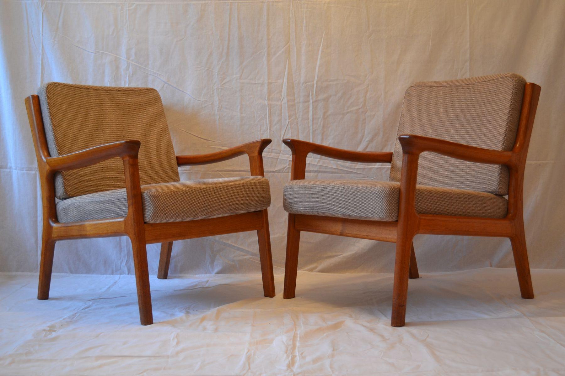 Lehnstühle von Juul Kristensen für Glostrup, 1960er, 2er Set